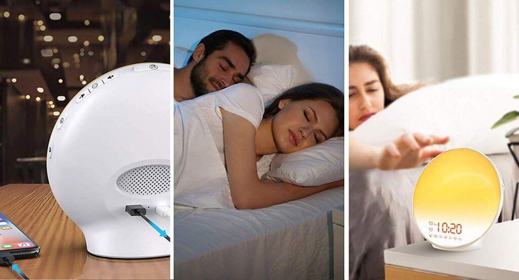 Wake Up Light Sunrise Alarm Clock By Jall