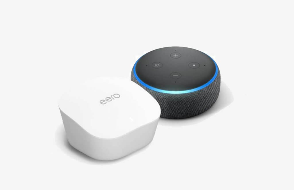 Amazon eero Mesh WiFi System 3-Pack With Echo Dot