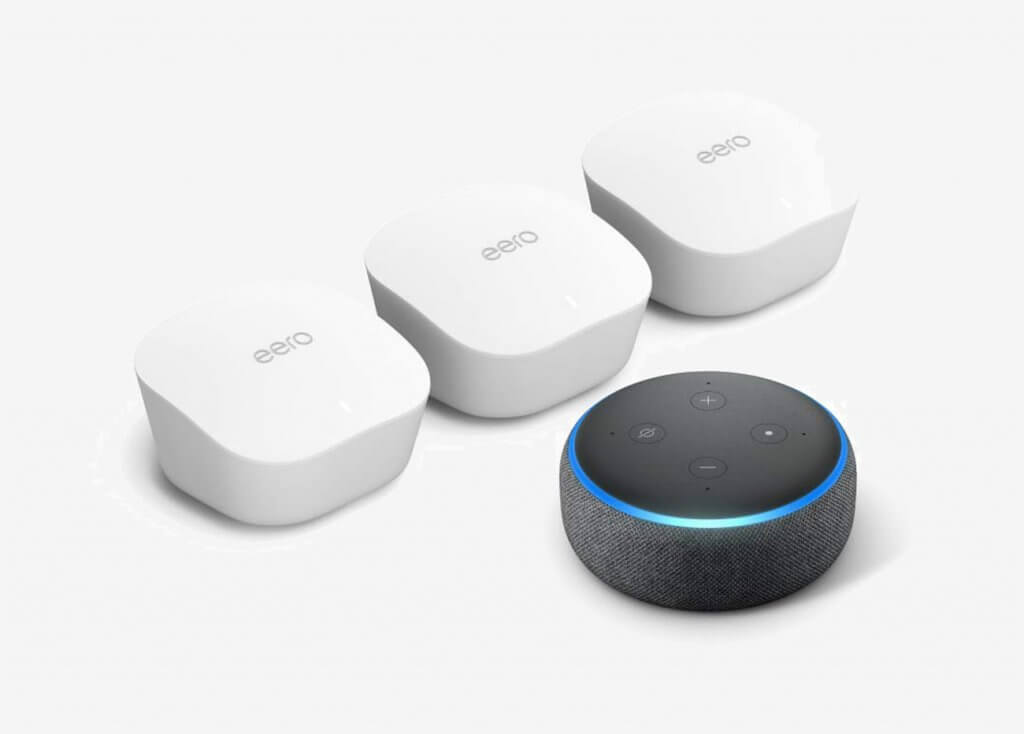 Amazon eero Mesh WiFi System 3-Pack With Echo Dot