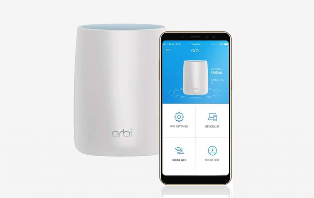 NETGEAR Orbi Tri-band and smartphone