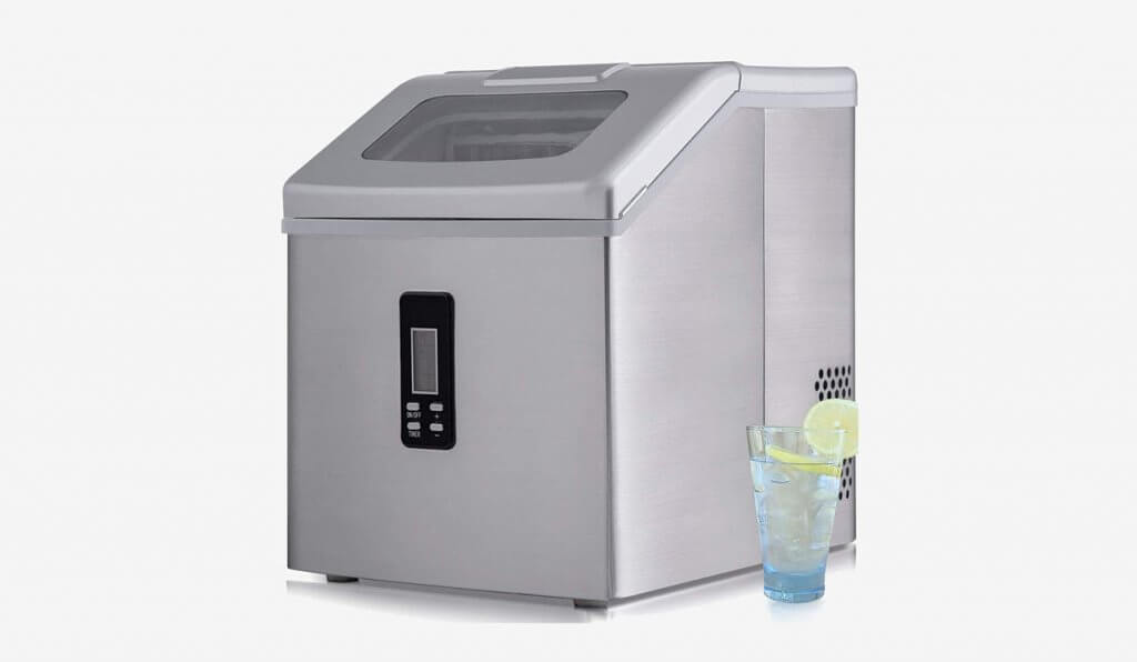 Sentern Portable Countertop Clear Ice Maker Stainless Steel Ice Making Machine