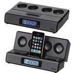 Portable Travel Alarm Clock for iPod