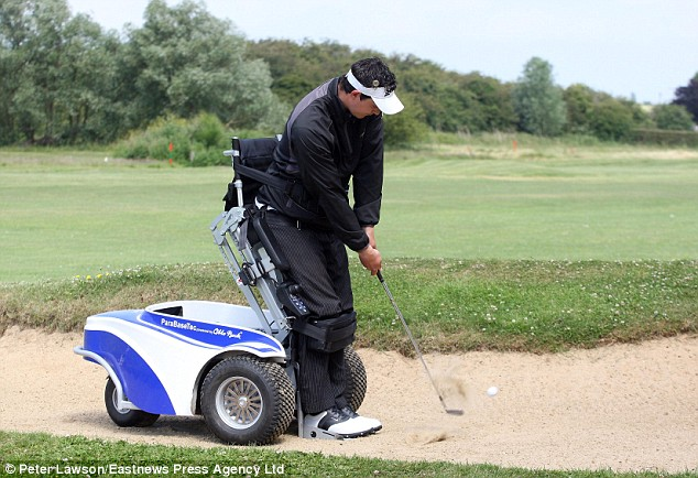 ParaGolfer is all terrain, going anywhere the ball goes.