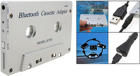 Make use of that old cassette player with a Bluetooth
