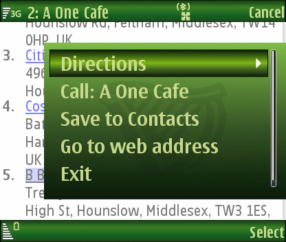 cafe options