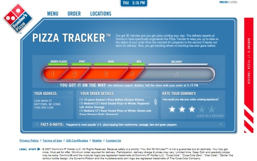 Track Your Domino S Pizza Online Coolest Gadgets