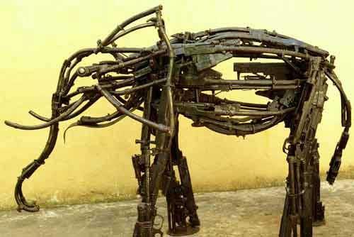 Elephant gun art