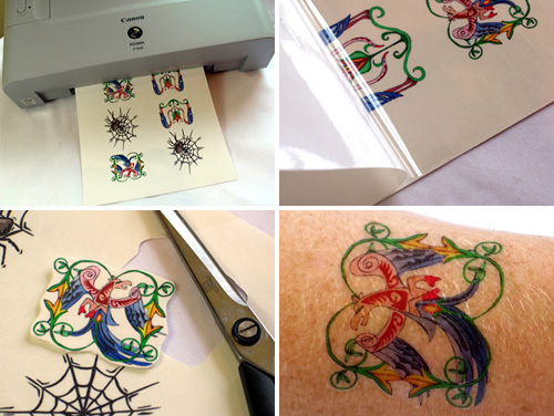 Print your own tattoos by the sheet » Coolest Gadgets