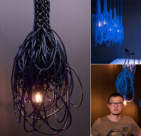 Tangled Wire Lamps