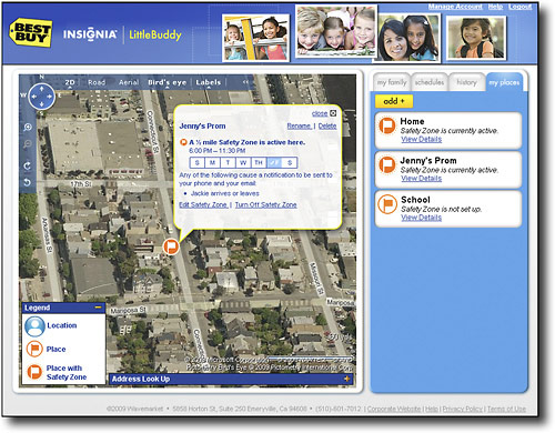 The accompanying website shows your child's exact location and can even send an SMS text should they move out of a designated area.