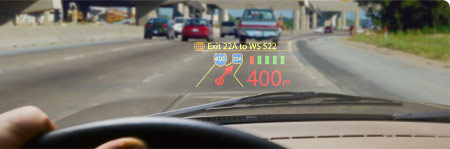 MicroVision PicoP head-up display