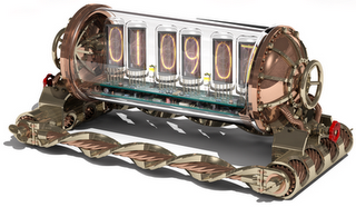 limited edition steampunk nixie clock
