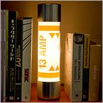 Fuse Lamp between books