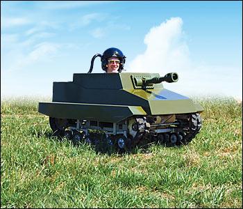 Paintballing Tank