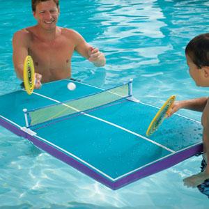 Pool table tennis