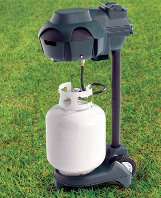 Mosquito-repelling propane tank