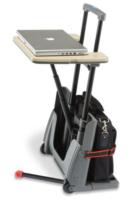 Rolling Luggage Cart and Desk