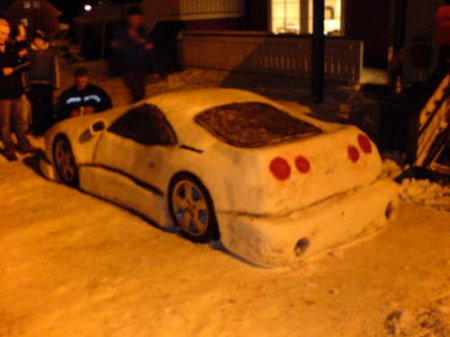 Car made from snow