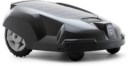 Solar-powered robotic lawn mower