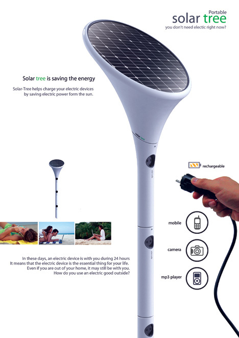 The solar tree turns any sunny day into a charging station.