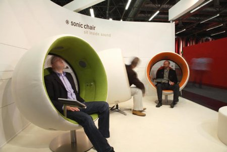 sonic chair to astound aurally coolest gadgets. Black Bedroom Furniture Sets. Home Design Ideas