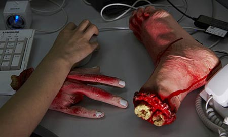 The Bloody Hand and Foot Wrist Rest