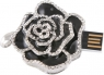 The Black Rose USB Drive Necklace