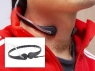 The Professional Headset - Throat-Vibration Speaker/Mic + PTT Finger button