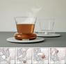 Cup eliminates the need for a stirring spoon