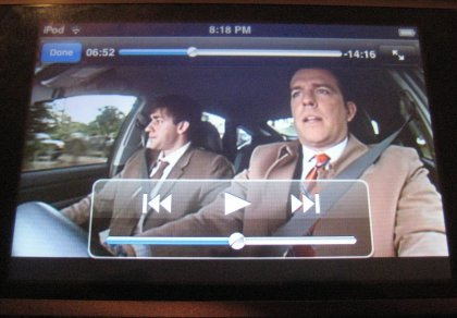iPod Touch Video Playing