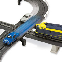 train Intersecting Slot Car And Train Set